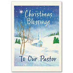 Christmas blessings to our pastor christmas card for pastor