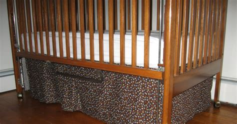 Pleated Crib Skirt Tutorial by Molding A Masterpiece Crib Skirt Tutorial Single Box Pleat