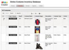 costume inventory resources costume organization ideas