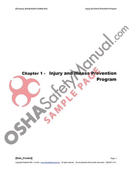 title 8 section 3203 download free injury illness protection program