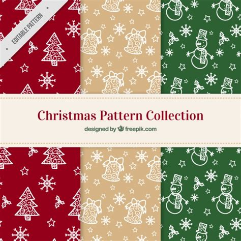 christmas pattern ai christmas patterns with mistletoe and snowflakes vector