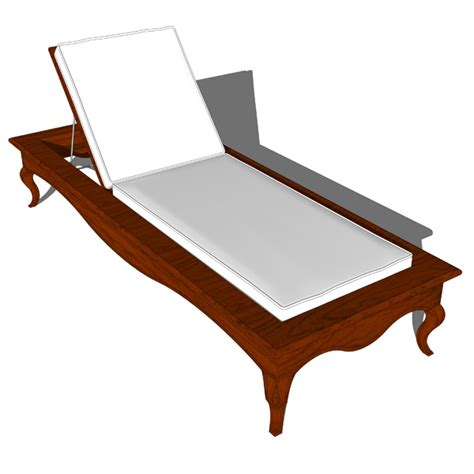 traditional chaise lounge traditional chaise 3d model formfonts 3d models textures