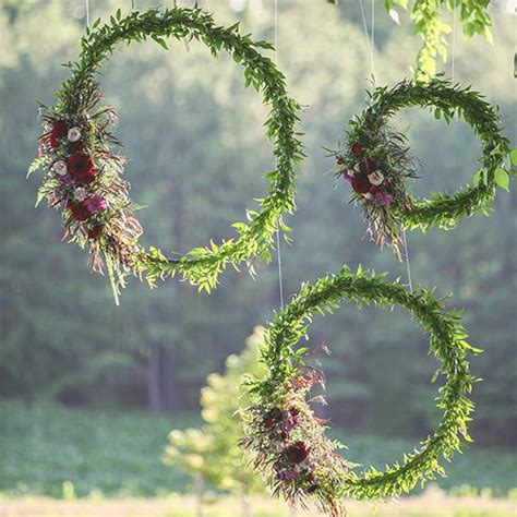 floral decorations hula hoops floral decor macmay farm wedding pinterest