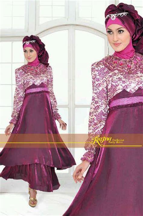 Busana Pesta Muslim Grosir Ammore Dress Furing princess rajna purple baju muslim gamis modern