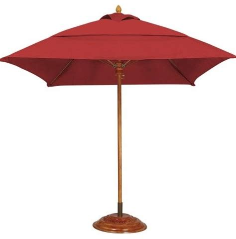 Teak Patio Umbrellas Fiberbuilt Bridgewater Fiber Teak 6 Ft Patio Umbrella