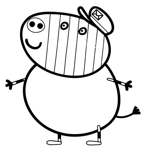 zoe zebra coloring page peppa pig grandpapi pig coloring pages