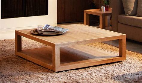 48 inch square coffee table made from oak   HomeFurniture.org