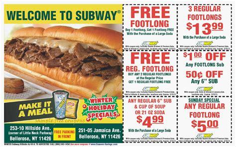 subway coupons printable october printable coupons subway coupons