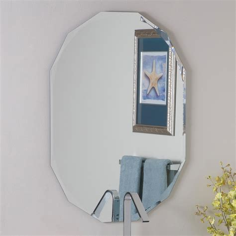decorating bathroom mirrors decor wonderland ssm8002 diamond bathroom mirror lowe s
