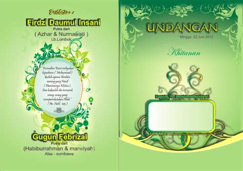 desain undangan pernikahan islami gratis download undangan gratis desain undangan pernikahan