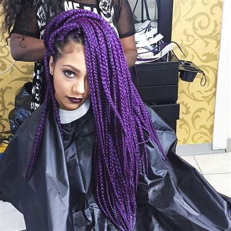 grey and purple combined together style box breads 70 sensational ideas on purple braids all seasons hair