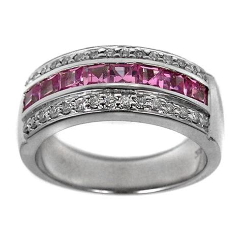 pink sapphire and wedding band wedding and