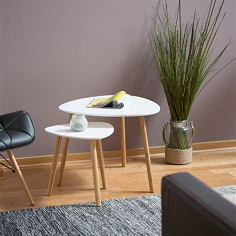 schreibtische nordisches design relaxdays satztisch 2er set platzsparende beistelltische