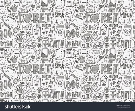 doodle pet doodle pet doodle pet background stock vector image