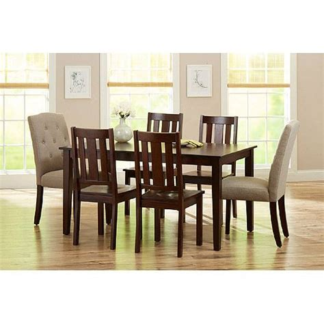 better homes and gardens dining room furniture better homes and gardens 7 piece dining set mocha beige