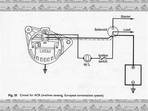 lucas alternator wiring diagram in lucas a127 alternator