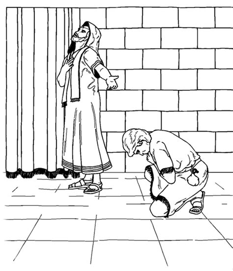 Pharisee And Tax Collector Coloring Page the pharisee and the tax collector coloring pages