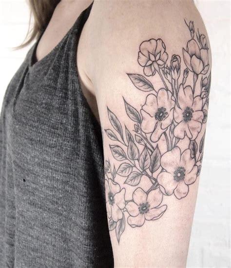 tattoo flower power wild roses wrapping around arm tattoo people toronto