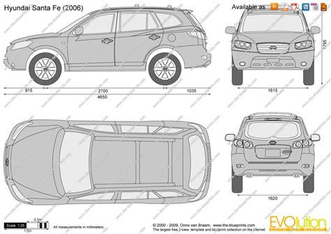 Hyundai Santa Fe Interior Dimensions by The Blueprints Vector Drawing Hyundai Santa Fe