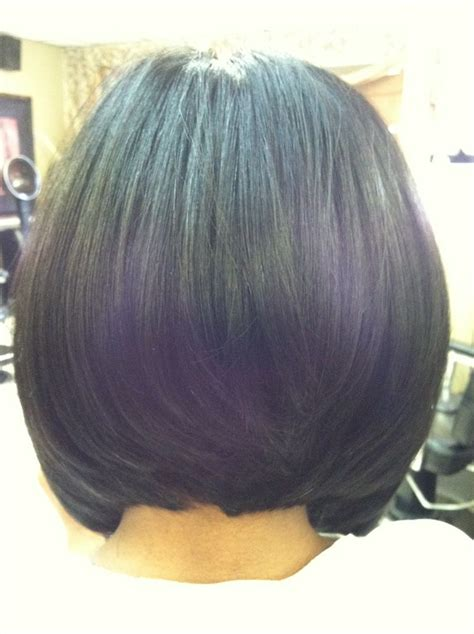 sew in layered bob hairstyles bob cut full sew in weave install stylist myechia love