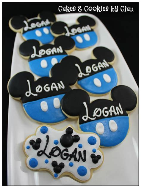Bando Baby Miki Blue mickey mouse baby shower sugar cookies my cookie