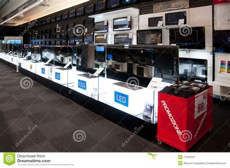 electronic bid big electronic retail store stock image image 17459431