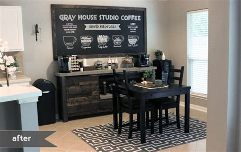 One Wall Kitchen Layout Ideas by Diy Coffee Bar Gray House Studio