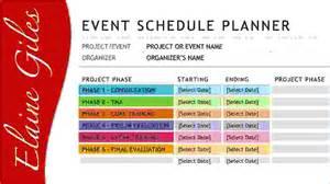 4 event schedule template procedure template sample