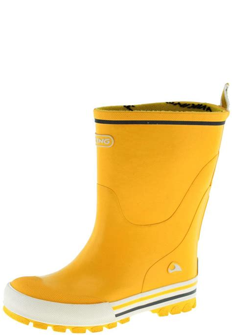children s rubber boots jolly yellow children s rubber boots by viking