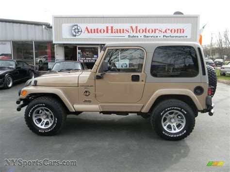 sand jeep for 1999 jeep wrangler sahara 4x4 in desert sand pearlcoat