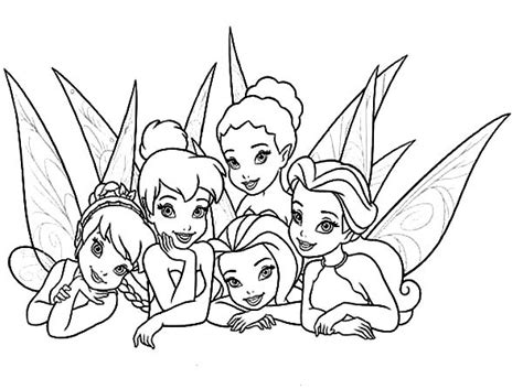picture  beautiful disney fairies coloring page