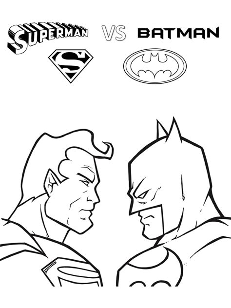 Batman V Superman Coloring Pages by Superman Batman Coloring Pages