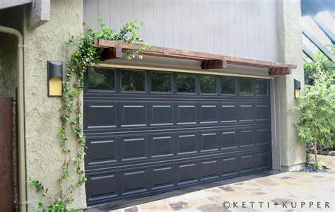 Garage Door Pergola by Garage Door With Pergola Eclectic Landscape Los