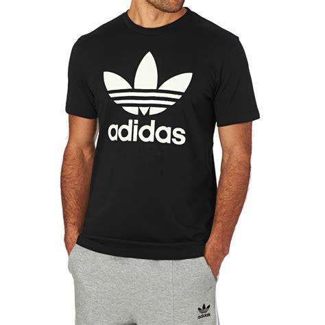 Tshirt Adidas Cloth adidas originals trefoil t shirt black free uk delivery