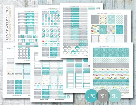 Monthly Planner Sticker free monthly printable planner stickers set rainy day