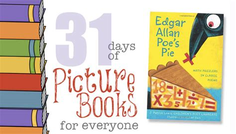 s pie books edgar allan poe s pie 31 days of picture books for everyone