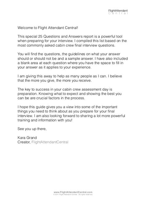 Cabin Crew Question And Answers by 25 Questions And Answers For Cabin Crew