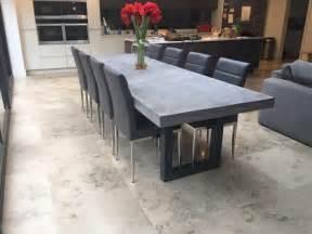 concrete kitchen tables 1000 ideas about concrete table on concrete