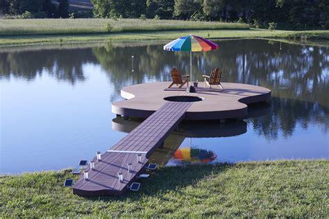 Pond Deck Designs by Guitar Shaped Deck Rocks Moistureshield Composite Decking