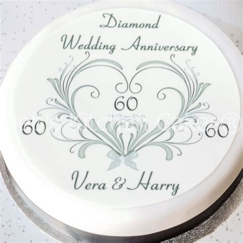 60th wedding anniversary 60th wedding anniversary cake topper personalised