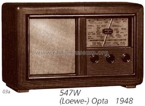 loewe kronach kronach 547w radio loewe opta deutschland build 1947 ndash
