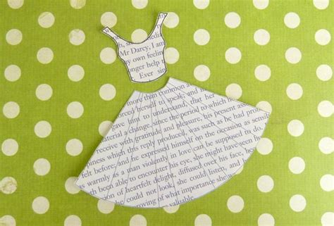 Bodice Template For Card by Book Print Dress Card Template