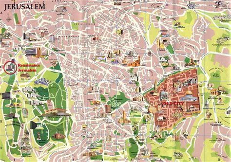 city jerusalem map stadtplan jerusalem detaillierte gedruckte karten