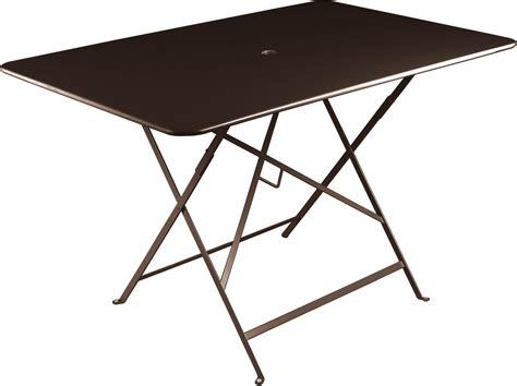 table pliante bistro 117x77cm 6 personnes rouille fermob