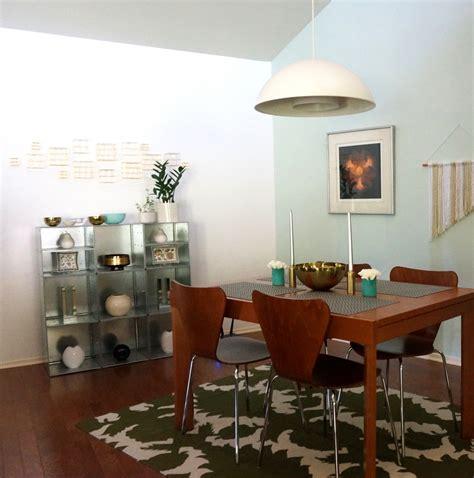 retro eclectic dining room mirror