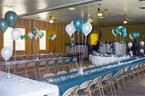 halls decorated for events and wedding photos above