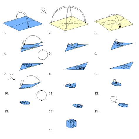 Standard Origami Paper Size - file origami cube svg wikimedia commons