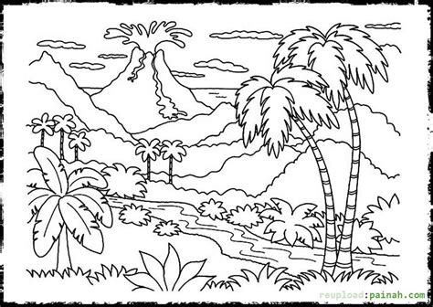 cinder volcano coloring page volcano clipart coloring page pencil and in color