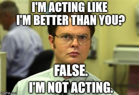 Acting Memes - troll dwight imgflip