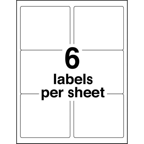 avery 6 labels per sheet template avery 5164 avery easy peel address label ave5164 ave